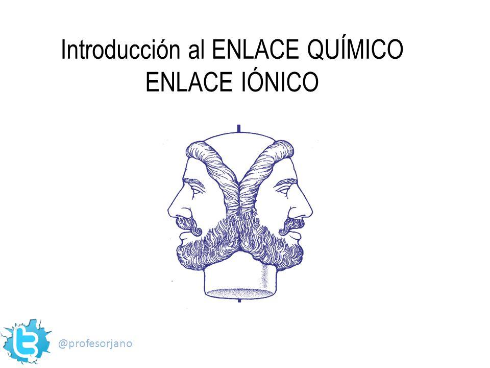 Introducción al ENLACE QUÍMICO