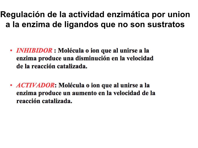 Regulación de la actividad enzimática por union a la enzima de ligandos que no son sustratos