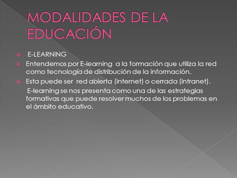 MODALIDADES DE LA EDUCACIÓN