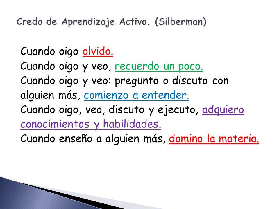 Credo de Aprendizaje Activo. (Silberman)