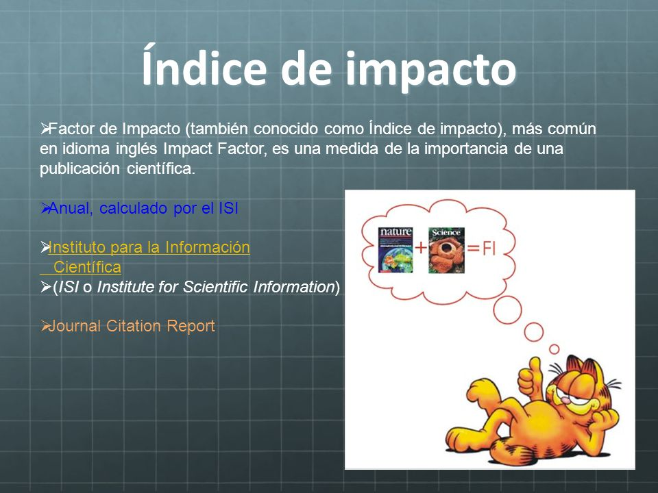 Índice de impacto
