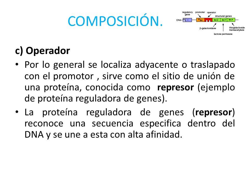 COMPOSICIÓN. c) Operador