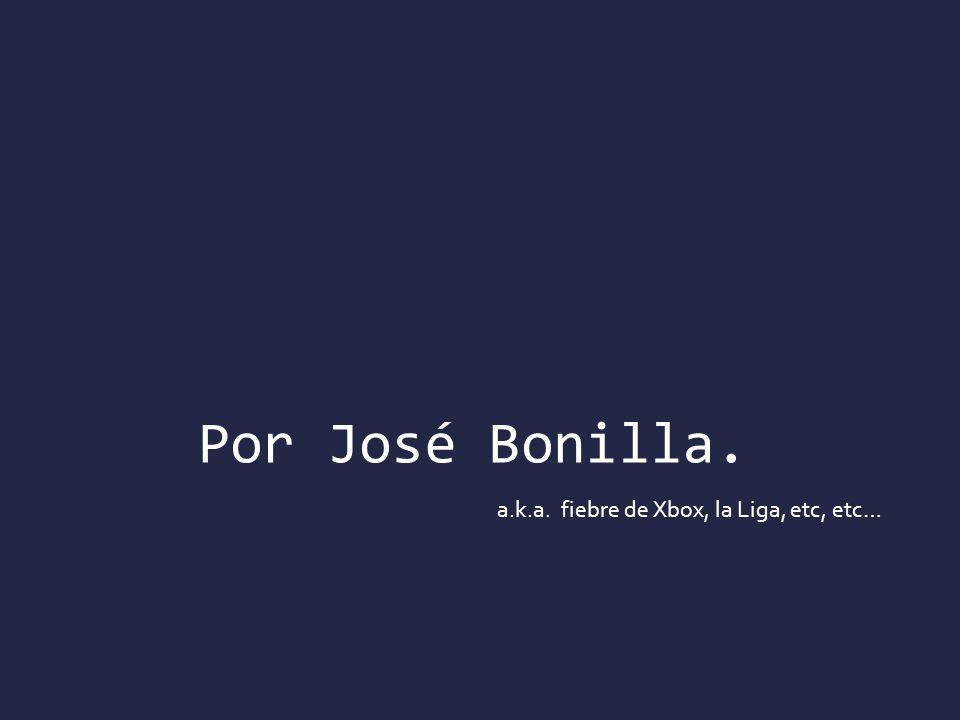 Por José Bonilla. a.k.a. fiebre de Xbox, la Liga, etc, etc…