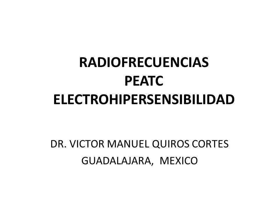 RADIOFRECUENCIAS PEATC ELECTROHIPERSENSIBILIDAD