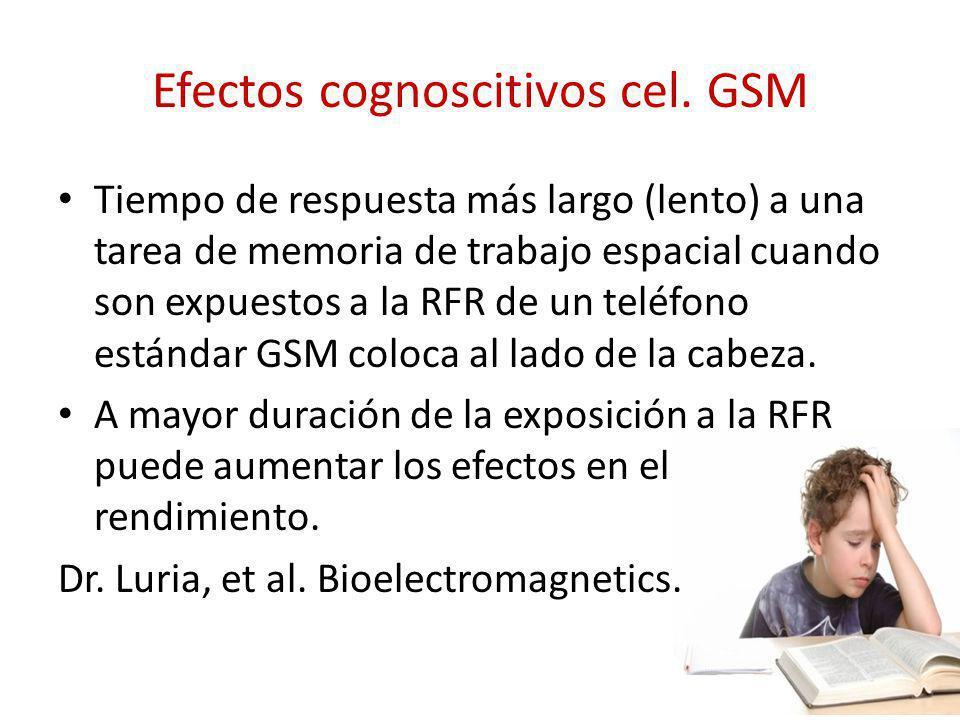 Efectos cognoscitivos cel. GSM