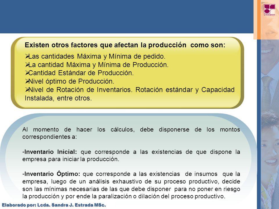 Existen otros factores que afectan la producción como son:
