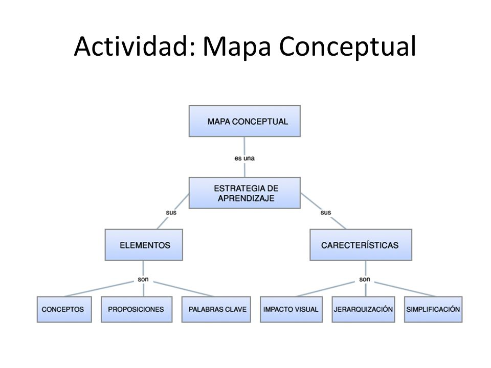 Actividad: Mapa Conceptual