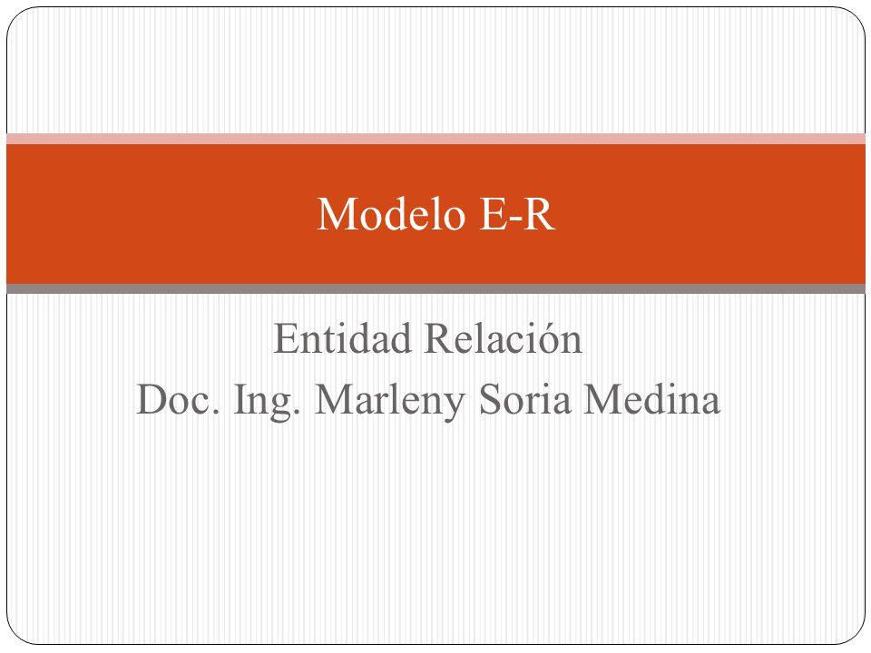 Entidad Relación Doc. Ing. Marleny Soria Medina