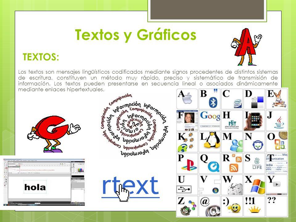 Textos y Gráficos TEXTOS:
