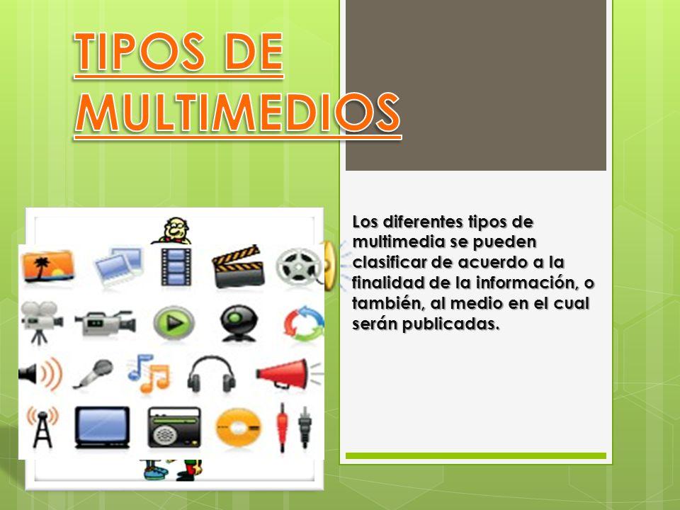 TIPOS DE MULTIMEDIOS