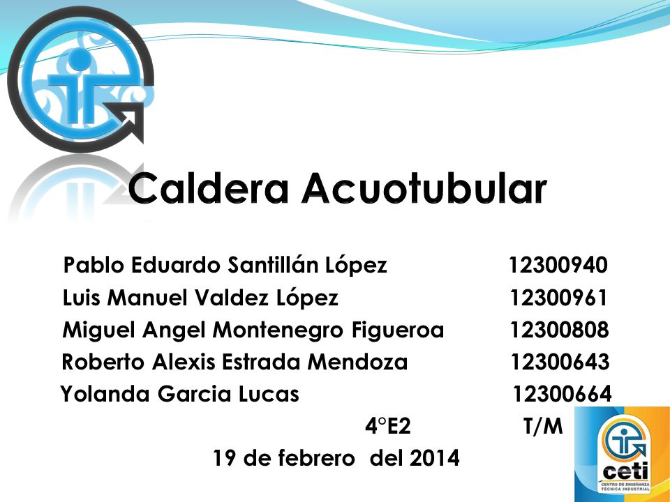 Caldera Acuotubular Pablo Eduardo Santillán López 12300940