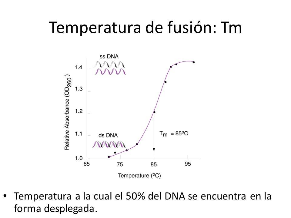 Temperatura de fusión: Tm