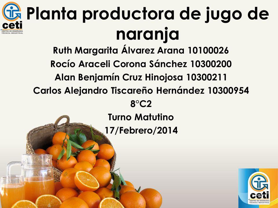 Planta productora de jugo de naranja
