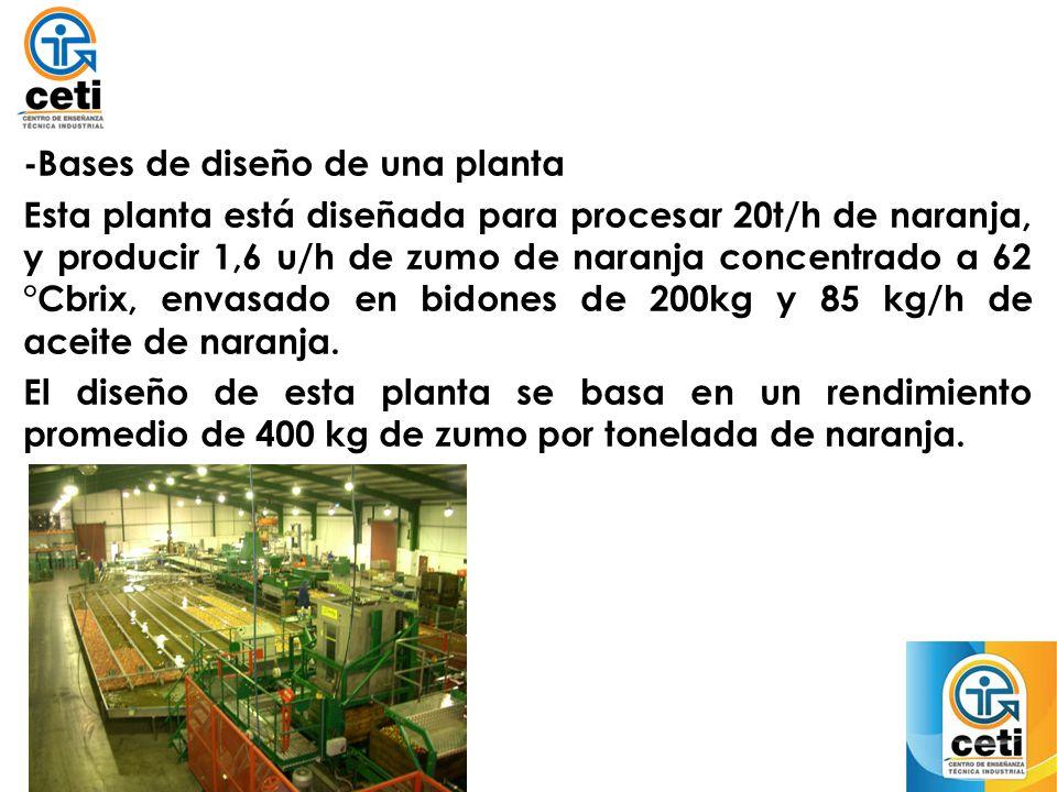 -Bases de diseño de una planta