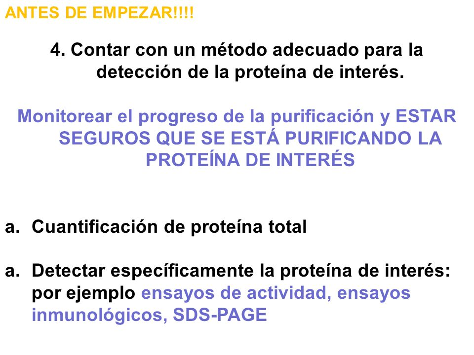 Cuantificación de proteína total