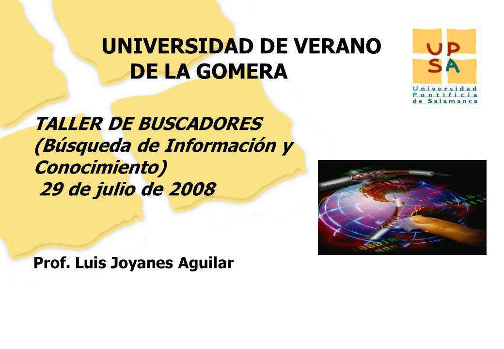 UNIVERSIDAD DE VERANO DE LA GOMERA