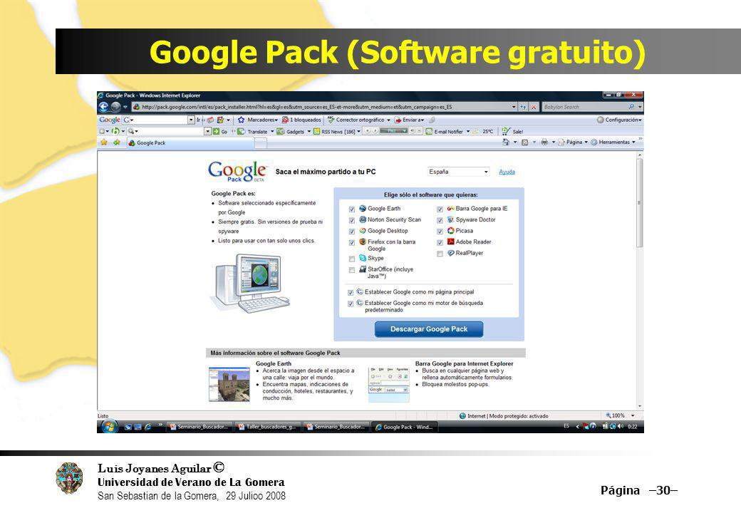 Google Pack (Software gratuito)