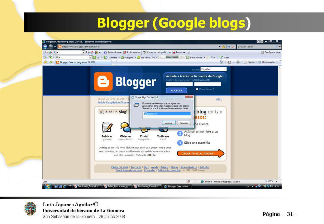 Blogger (Google blogs)