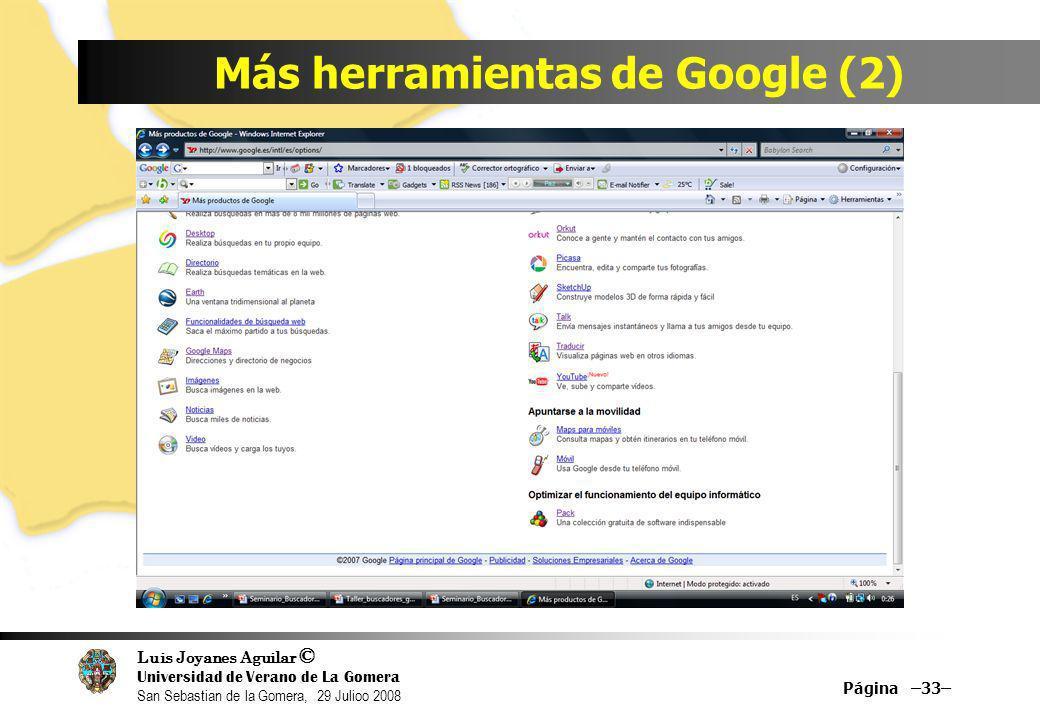 Más herramientas de Google (2)