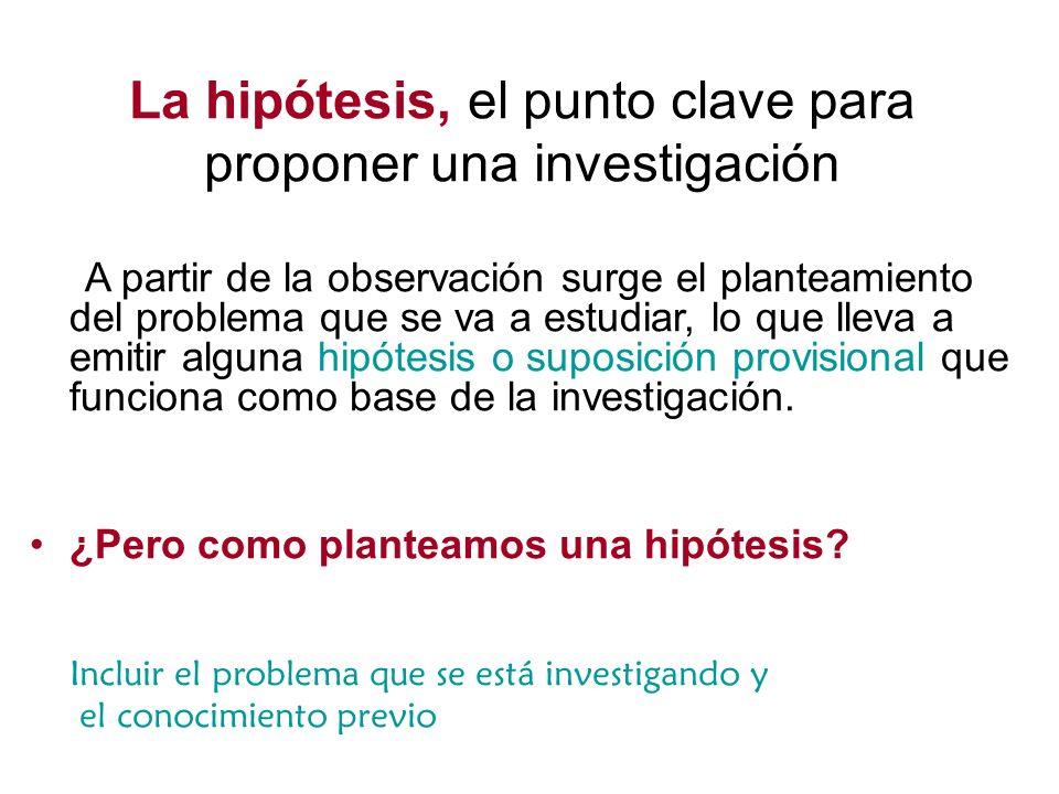 La hipótesis, el punto clave para proponer una investigación