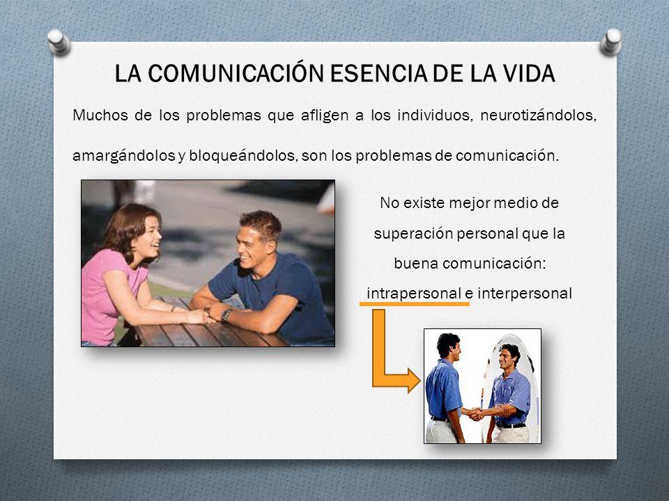LA COMUNICACIÓN ESENCIA DE LA VIDA