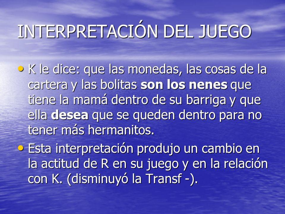 INTERPRETACIÓN DEL JUEGO