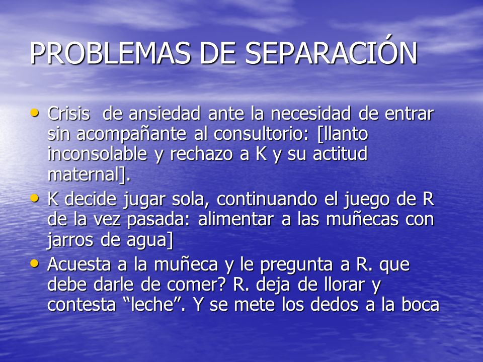 PROBLEMAS DE SEPARACIÓN