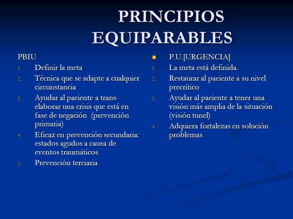 PRINCIPIOS EQUIPARABLES