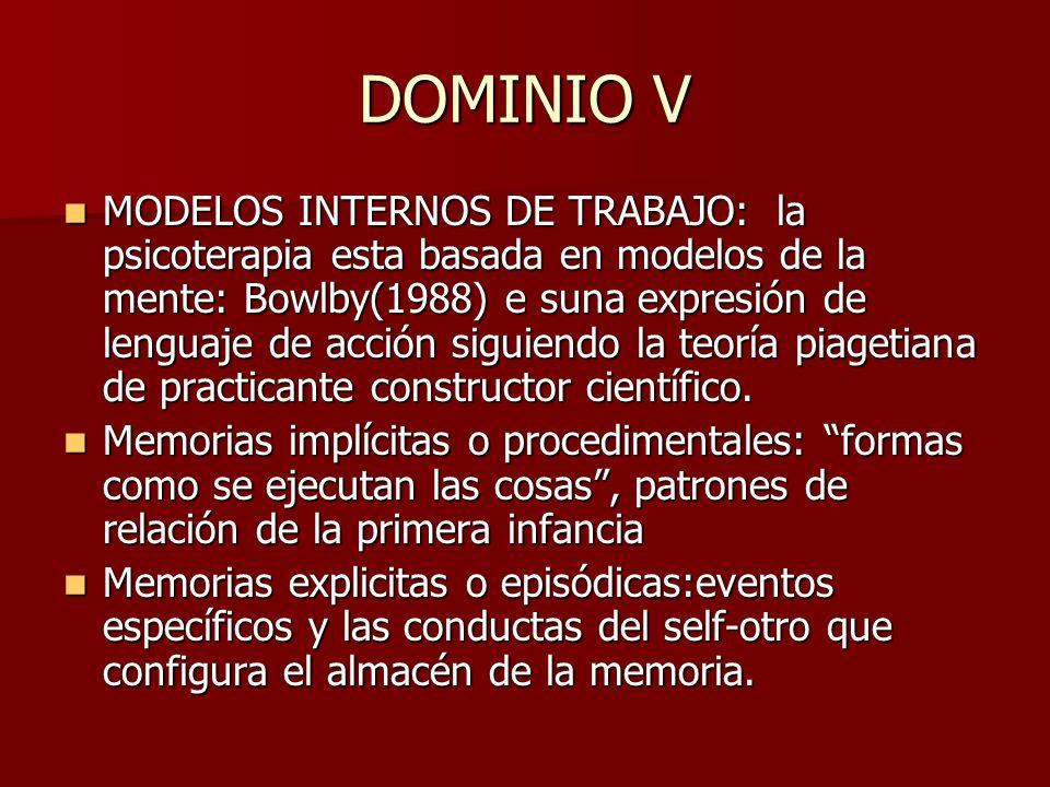 DOMINIO V