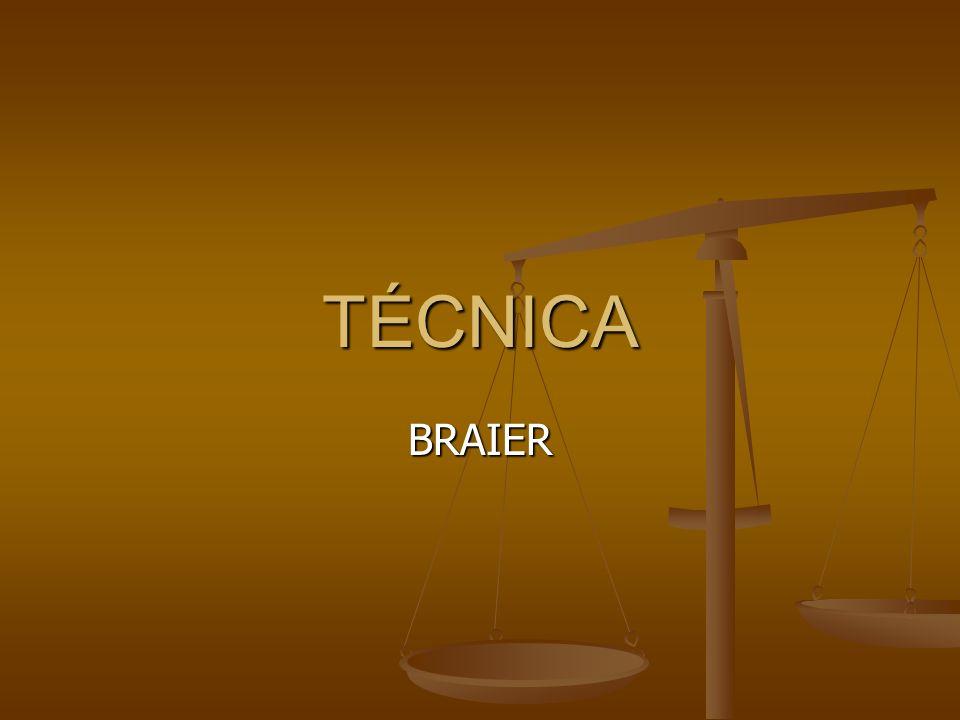 TÉCNICA BRAIER