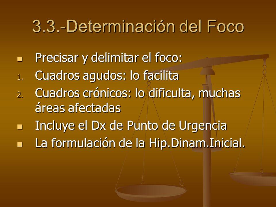 3.3.-Determinación del Foco