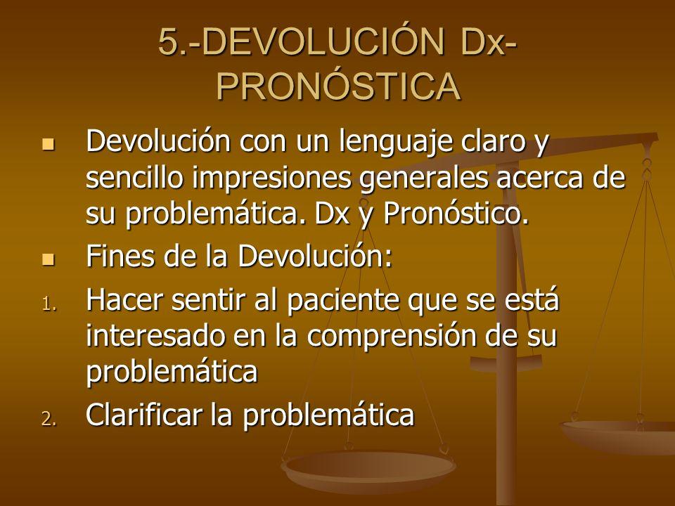 5.-DEVOLUCIÓN Dx-PRONÓSTICA