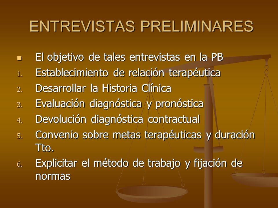 ENTREVISTAS PRELIMINARES