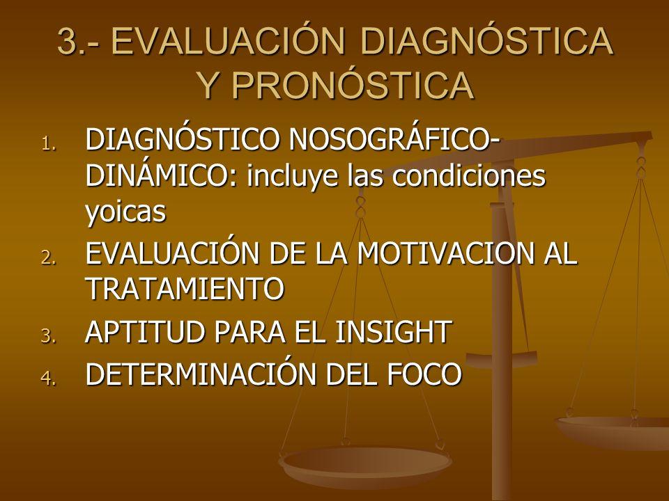 3.- EVALUACIÓN DIAGNÓSTICA Y PRONÓSTICA