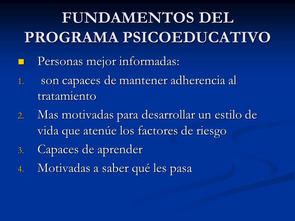 FUNDAMENTOS DEL PROGRAMA PSICOEDUCATIVO
