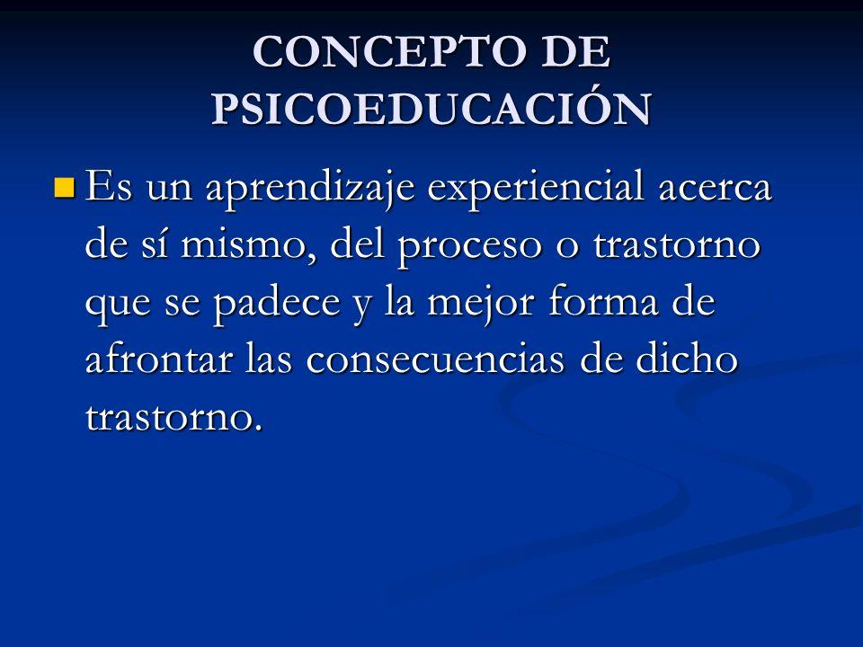 CONCEPTO DE PSICOEDUCACIÓN