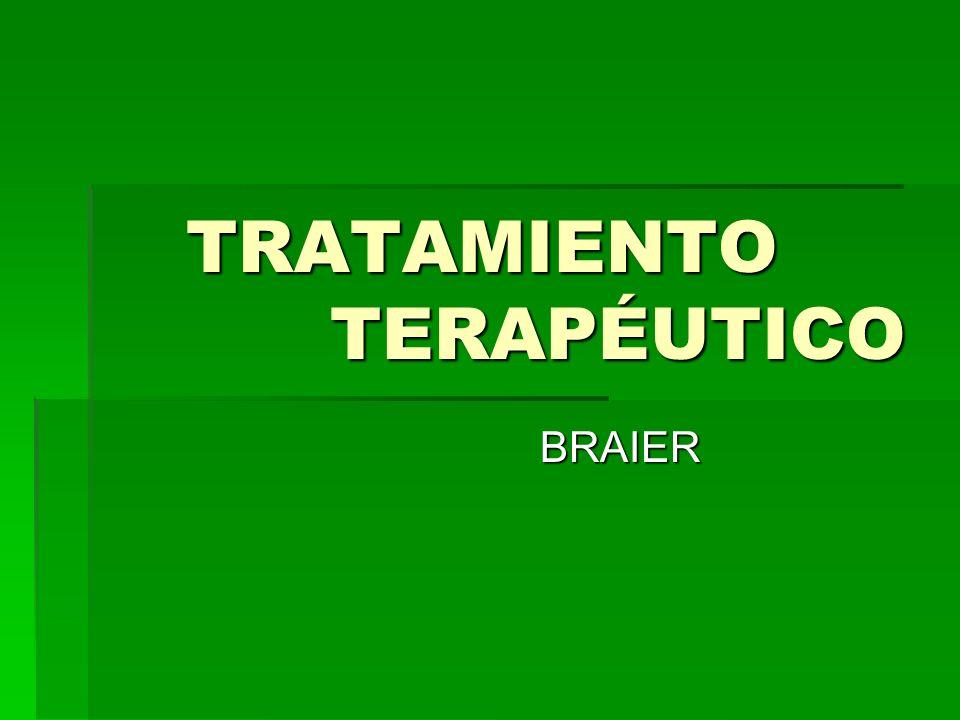 TRATAMIENTO TERAPÉUTICO
