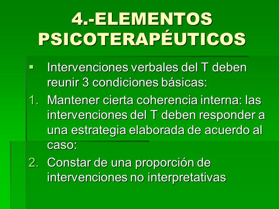 4.-ELEMENTOS PSICOTERAPÉUTICOS