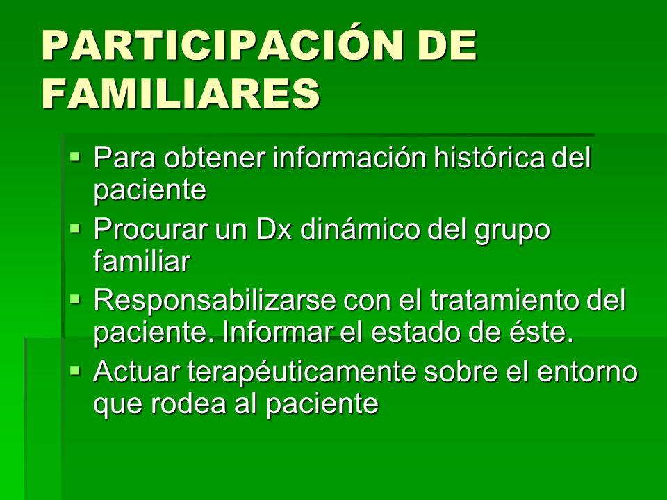 PARTICIPACIÓN DE FAMILIARES
