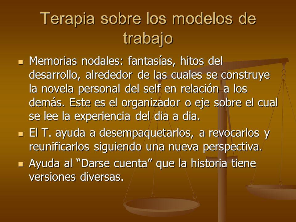 Terapia sobre los modelos de trabajo