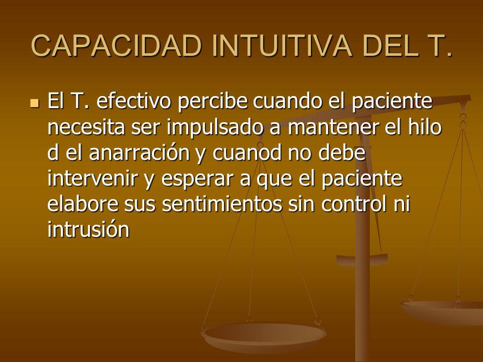 CAPACIDAD INTUITIVA DEL T.