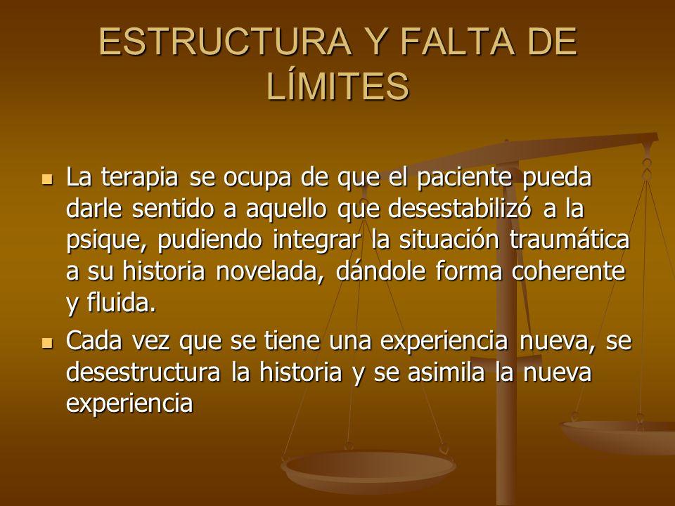 ESTRUCTURA Y FALTA DE LÍMITES
