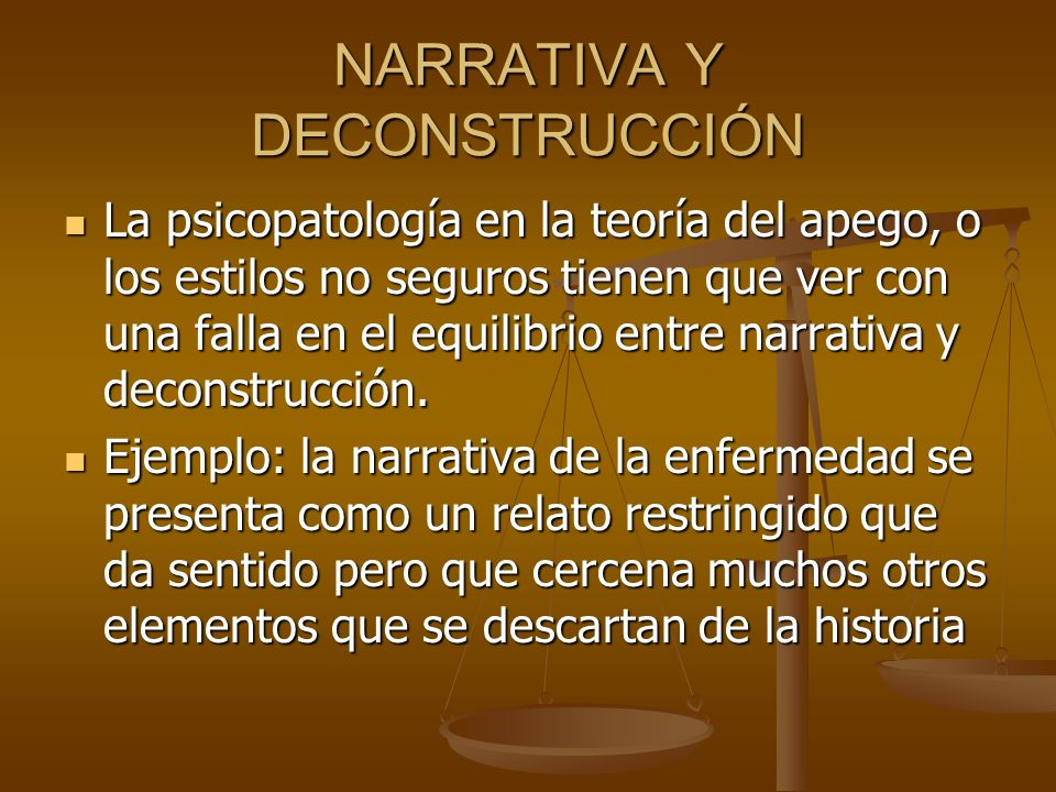 NARRATIVA Y DECONSTRUCCIÓN