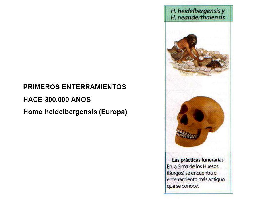 PRIMEROS ENTERRAMIENTOS