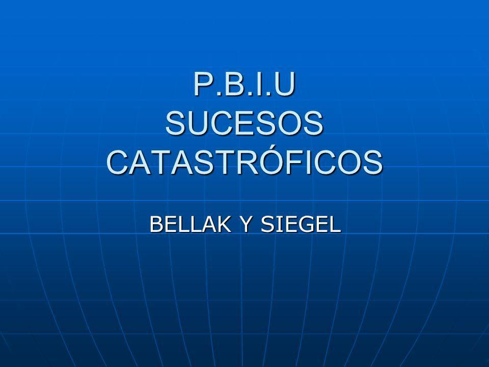 P.B.I.U SUCESOS CATASTRÓFICOS