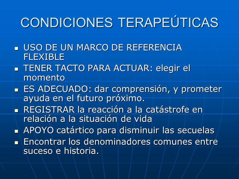 CONDICIONES TERAPEÚTICAS