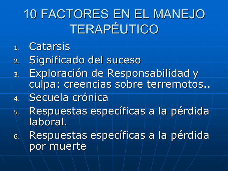 10 FACTORES EN EL MANEJO TERAPÉUTICO
