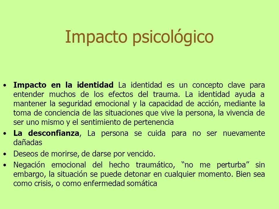 Impacto psicológico