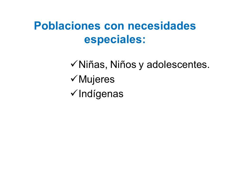 Poblaciones con necesidades especiales: