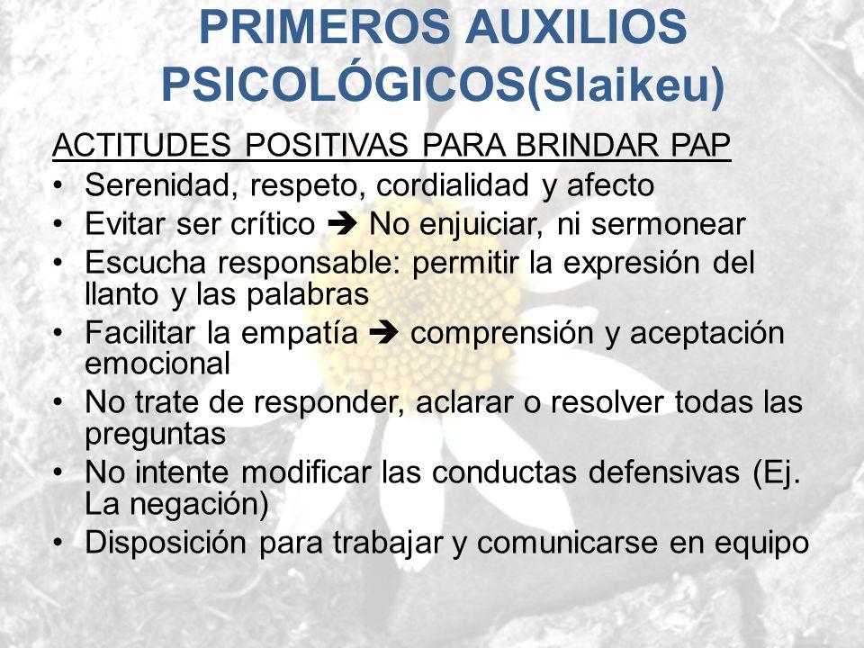 PRIMEROS AUXILIOS PSICOLÓGICOS(Slaikeu)